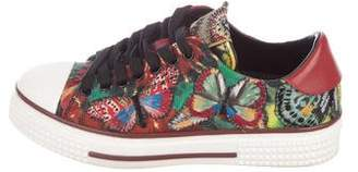 Valentino Round-Toe Low-Top Sneakers