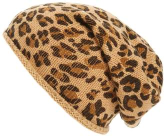 BP Leopard Print Slouchy Beanie