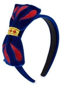 FANTASIA Girl's Classic Snow White Velvet Headband