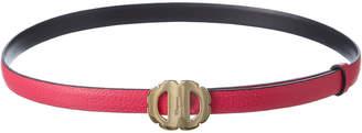 Salvatore Ferragamo Reversible Leather Flower Belt