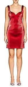 Area Women's Flo Stretch-Lamé Sweetheart-Neck Dress-Red