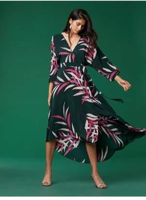 Diane von Furstenberg Eloise Asymmetric Hem Midi Dress