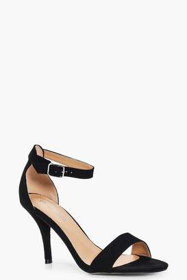 boohoo Wide Fit Low Heel Two Parts