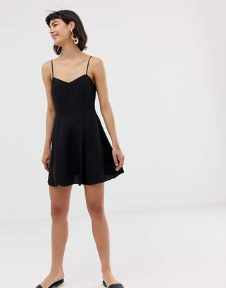 And other stories & spaghetti strap mini skater dress in black