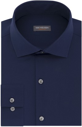Van Heusen Men's Traveler Slim-Fit 4-Way Stretch Dress Shirt