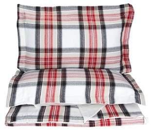 Distinctly Home Highland Plaid Flannel Cotton Duvet Cover Set