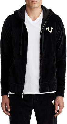 True Religion MENS VELOUR ZIP UP HOODIE