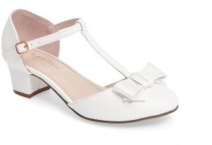 Girl's Ruby & Bloom T-Strap Bow Pump $44.95 thestylecure.com