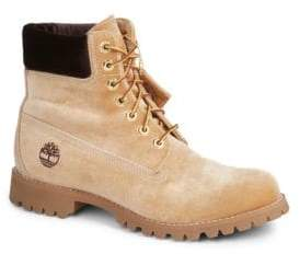 Off-White Men's Timberland Leather Lace-Up Boots
