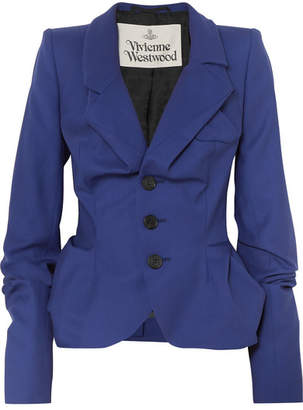Vivienne Westwood Gathered Wool-twill Blazer - Blue