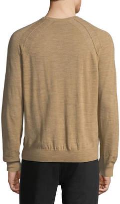 Vince Men's Seamed Wool/Linen V-Neck Sweater