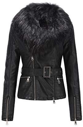 Bellivera Women's Faux Leather Short Jacket