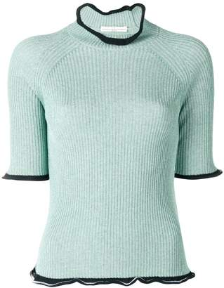 Golden Goose ribbed frill-trim sweater