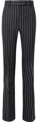 Tom Ford Pinstriped Wool Flared Pants - Black