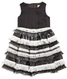 Girl's Sequin Fringe Dress $195 thestylecure.com