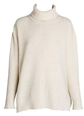 Marni Women's Virgin Wool & Cashmere Open Weave Turtleneck Sweater