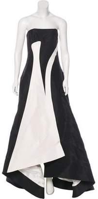 Prabal Gurung 2016 Silk Faille Strapless Gown