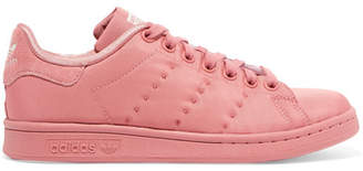 adidas Stan Smith Suede-trimmed Sateen Sneakers - Pink