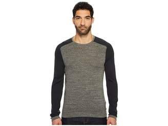 John Varvatos Long Sleeve Color Block Crewneck Sweater Men's Sweater