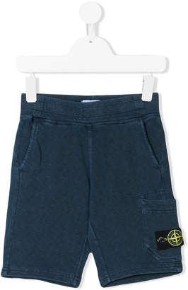 Stone Island Junior patch embellished bermuda shorts