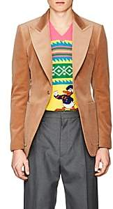 Gucci Men's Wool Velvet One-Button Sportcoat - Camel
