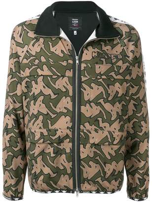 Perks And Mini Pam camouflage print sports jacket