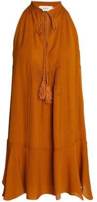 A.L.C. Fluted Pintucked Silk Mini Dress