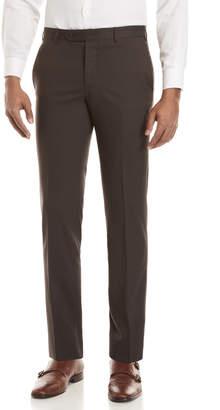 Zanella Charcoal Brown Plainweave Stretch Pants