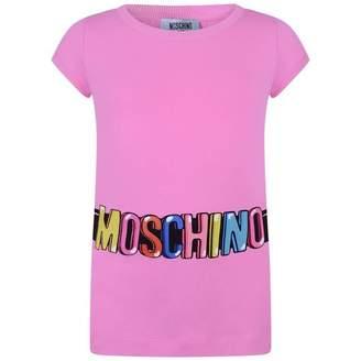 Moschino MoschinoGirls Pink Logo Print Tunic Top