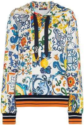 Dolce & Gabbana (ドルチェ & ガッバーナ) - Dolce & Gabbana majolica printed hoodie