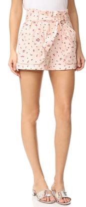 Rebecca Taylor Mia Floral Shorts $275 thestylecure.com
