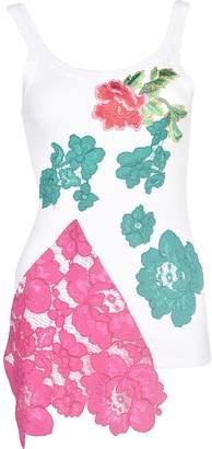 Antonio Marras Embroidered Floral Tank Top