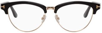 Tom Ford Black and Gold Horn Rim Glasses