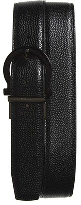 Men's Salvatore Ferragamo Reversible Calfskin Leather Belt $395 thestylecure.com
