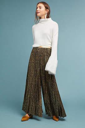 Geisha Pleated Metallic Trousers