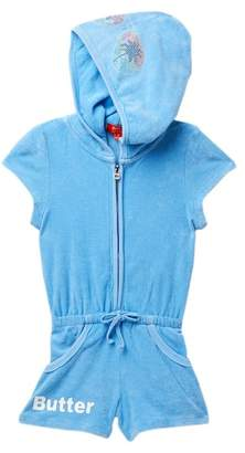 Butter Shoes Super Soft Mineral Wash Terry Romper (Little Girls)