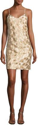 Trina Turk Highlight Sleeveless Metallic Cocktail Dress, Gold