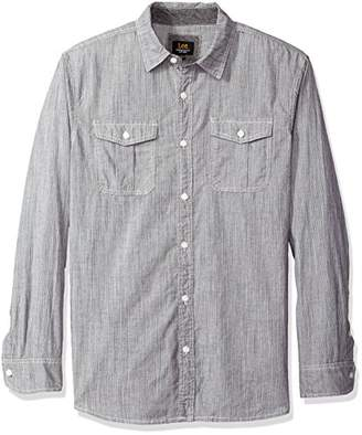 Lee Men's Long Sleeve Stretch Button Down Shirts