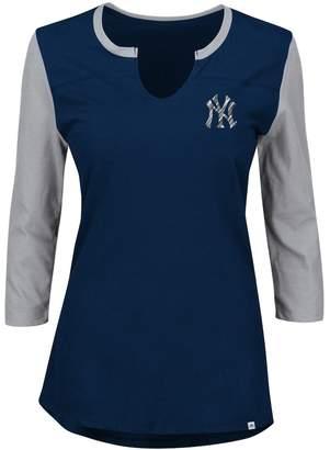Majestic Plus Size New York Yankees Raglan Tee
