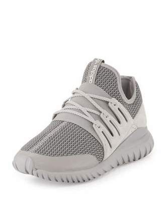Adidas Men's Tubular Radial Trainer Sneaker, Gray $110 thestylecure.com