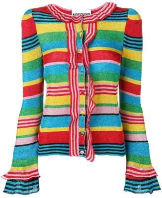 Moschino rainbow ruffle detailed cardigan