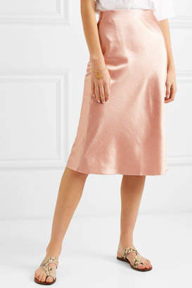 Vince Hammered-satin Skirt - Blush