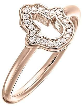 Thomas Sabo Women-Ring Glam & Soul 925 Sterling Silver 18k rose gold plating Zirconia white Sz. 54 (17.2) TR2076-416-14-54