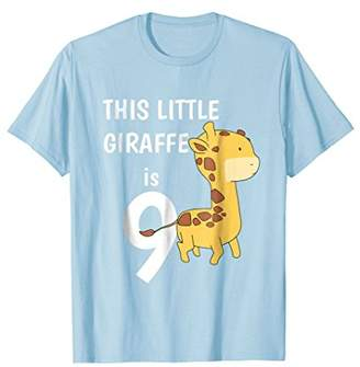 Little Giraffe This Is 9 Years Old Funny Birthday T Shirt