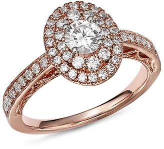 Bloomingdale's Diamond Double Halo Engagement Ring in 14K Rose Gold, 1.0 ct. t.w. - 100% Exclusive