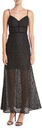 Jill Stuart Floral Lace Slip Evening Gown