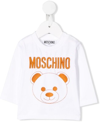 Moschino Kids embroidered bear T-shirt