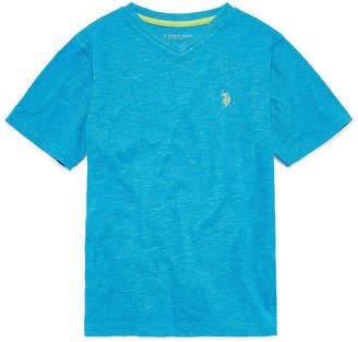 U.S. Polo Assn. USPA Short Sleeve V Neck T-Shirt Boys