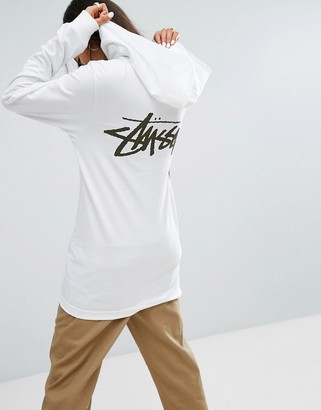 Stussy Oversized Hooded T-Shirt With Front & Back Logo $49 thestylecure.com