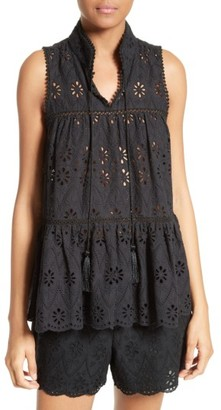 Women's Kate Spade New York Eyelet Embroidered Tiered Top $278 thestylecure.com